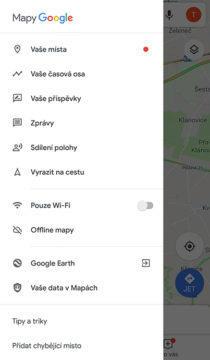 google mapy časová osa