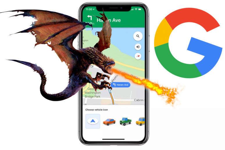 Google Mapy drak