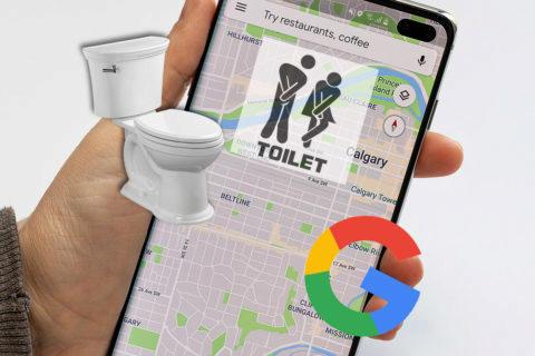 Veřejné toalety a Google Mapy