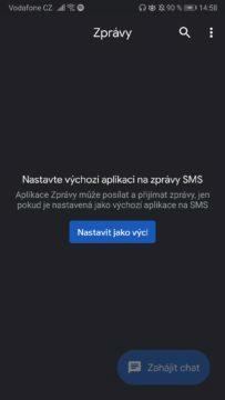 Google Messages - jak zapnout temný režim