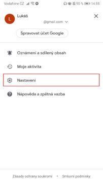 Zprávy Google - jak aktivovat tmavý režim