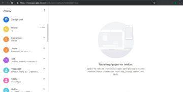 Google zprávy v počítači