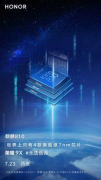 Honor 9X použitý chipset