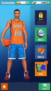 hra na mobil basketball stars