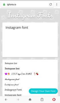instagram font online