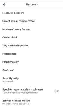 jak smazat historii vyhledávání a tras google mapy
