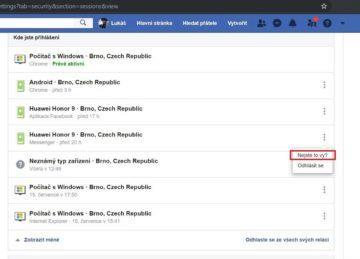 Jak zjistit, jestli se někdo naboural do Facebook účtu