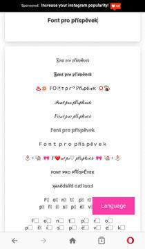 jak změnit font na instagramu
