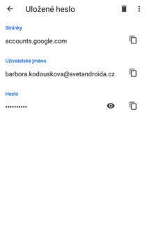 jak změnit uložené heslo v google chrome