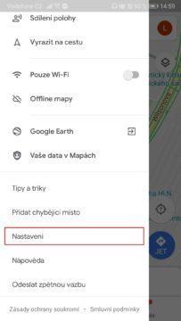 Mapy Google - jak zapnout temný režim