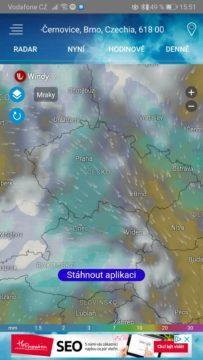 Meteo Radar - počasí ČR