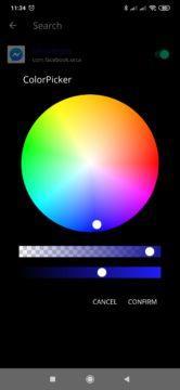 Nastavení barvy notifikační LED