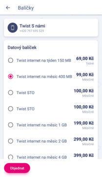 neomezená data t-mobile cena