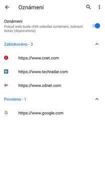 notifikace prohlížeč chrome