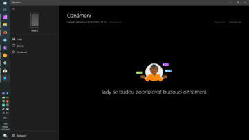 notifikace z telefonu pc android windows 10 plocha pro oznameni