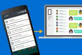 notifikace z telefonu windows 10 microsoft android