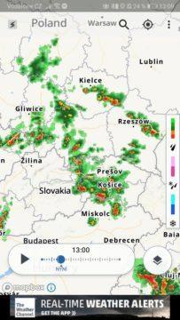 Počasí - bouřky - radar