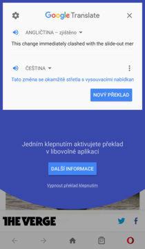 Překladač Google překlad textu v aplikaci