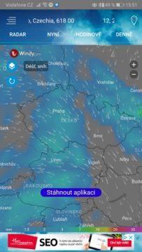 Přesná předpověď počasí - Česká republika - aplikace