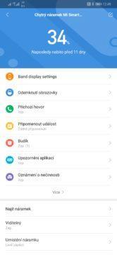 Xiaomi Mi Band 4 nastavení