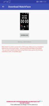 Voba ciferníku Xiaomi Mi Band 4