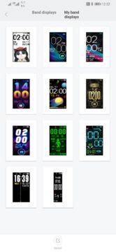 Xiaomi Mi Band 4 výběr ciferníku