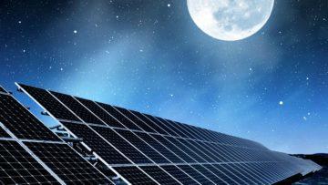 Solární panely - noc