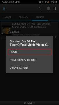 Stahování hudby z YouTube do mobilu