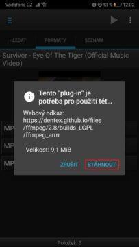 Stahování videa z YouTube do Android