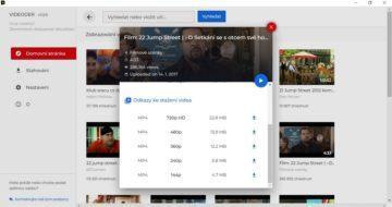 VideoDer - stahování videa z YouTube