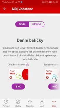 Vodafone Pass - denní a měsíční