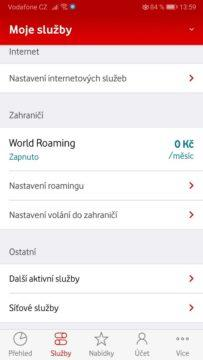 Vodafone - World roaming - svět