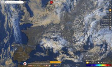 Windy aktuální vývoj oblačnosti