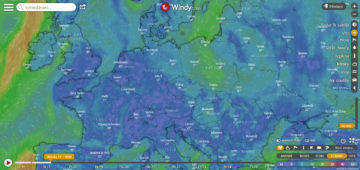 Windy hodinová předpověď