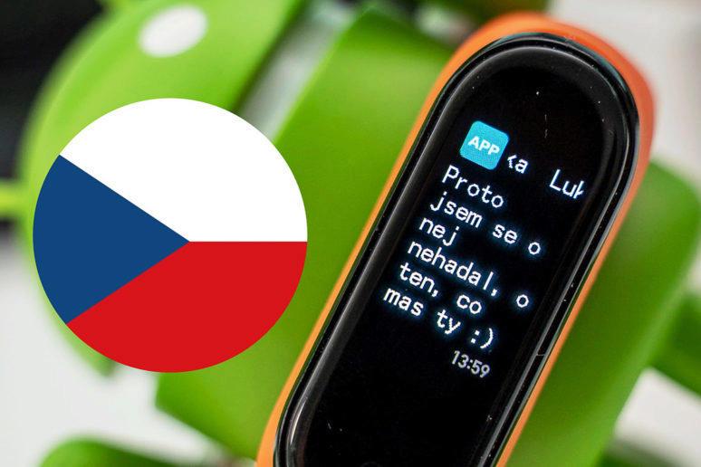 Xiaomi Mi Band 4 česká diakritika