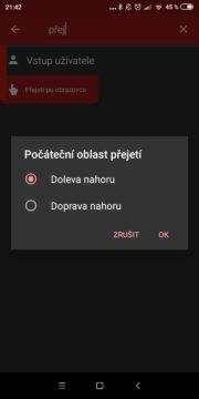 Změna klávesnice - automatizovat Android - gesto 1