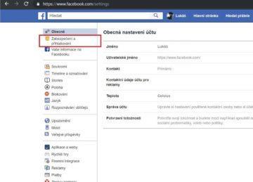 Zneužitý Facebook - zabezpečení a přihlášení