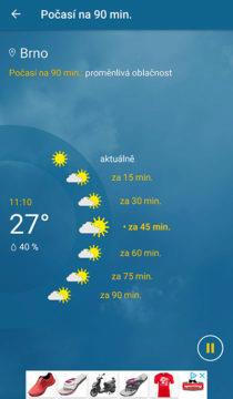 aktuální počasí dnes