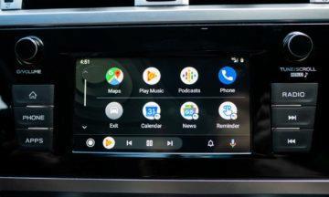 Android Auto - tmavý režim
