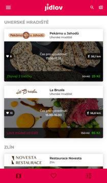 aplikace jídlov
