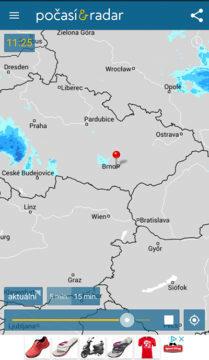 aplikace počasí radar