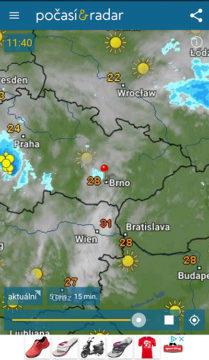 Aplikace Počasí & Radar