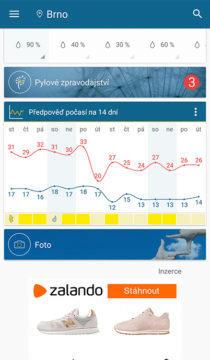 dlouhodobá předpověď počasí aplikace