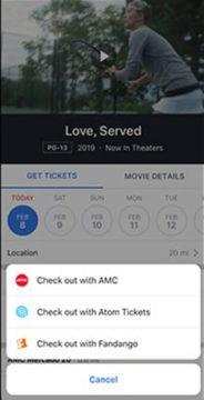 facebook rezervace kino