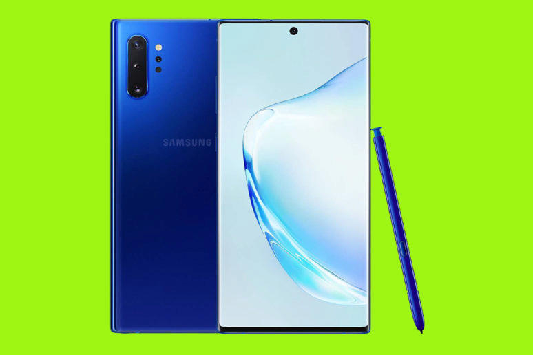 galaxy note 10 + aura blue