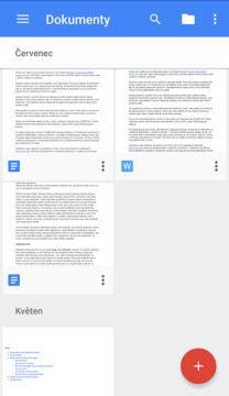 google dokumenty nový vzhled