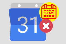 google kalendář spam