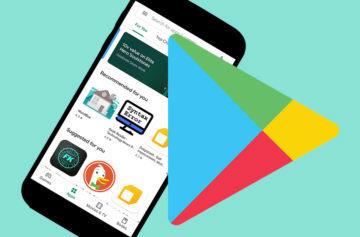 google play nový vzhled material design