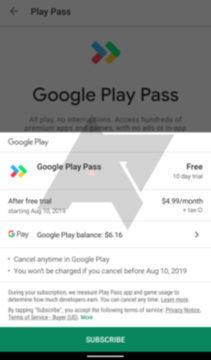 google play pass měsíční poplatek