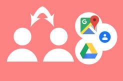 google přepnutí účtu gesto